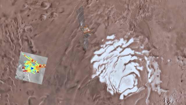 火星上发现液态湖,直径约20公里