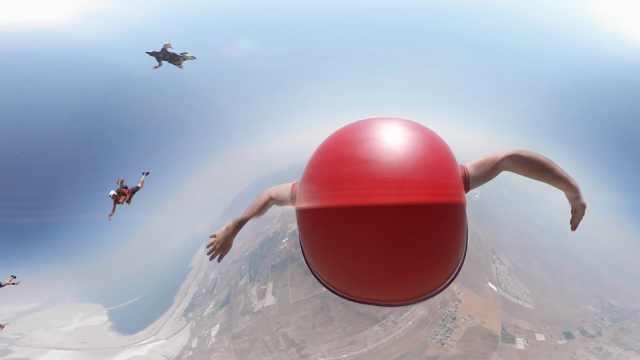 高空跳伞,VR最适合展现的畅快