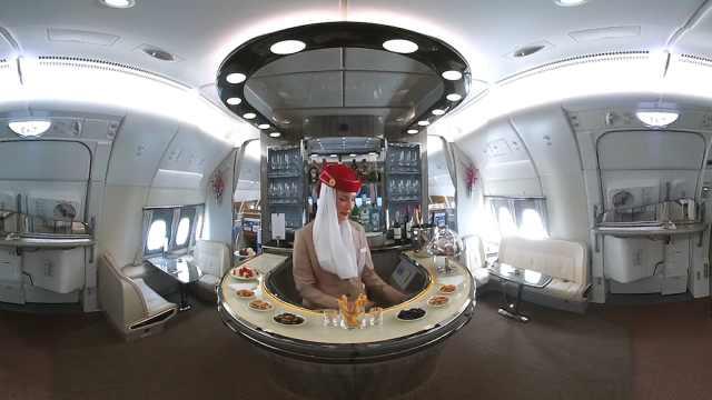 奢华!VR体验阿联酋豪华航空休息室