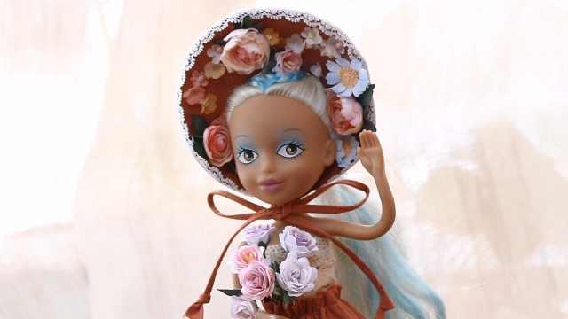 珍藏的娃娃,给他做个法式复古装