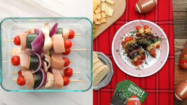 教你制作美味烧烤:意式鸡肉蔬菜串