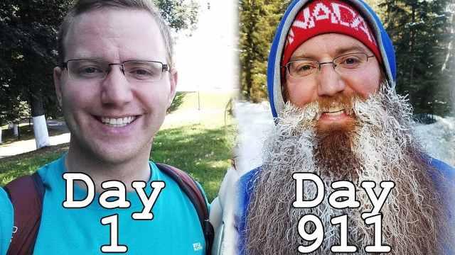 环游世界两年半间,他竟没刮过胡子