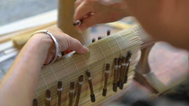 神奇的竹帘是怎么制作的?