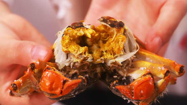 盐焗螃蟹,今年中秋就吃它了!
