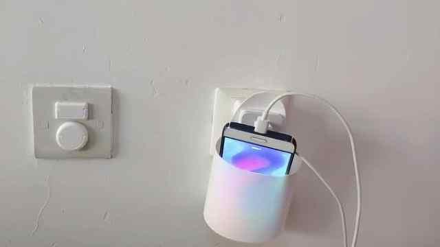 沐浴露瓶子改装手机充电方便盒