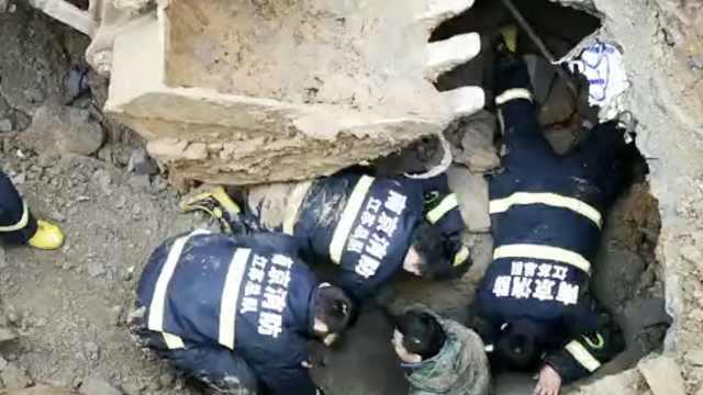 南京一工地坍塌,工人被埋1死1伤