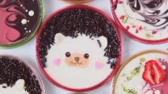 新年的祝福,可爱的刺猬甜点!