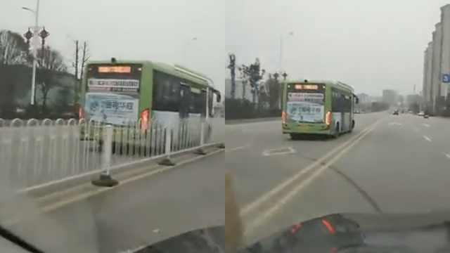 公交故障,司机载客逆行被停岗处理