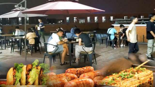 高校天台设深夜食堂,学生吃胖20斤