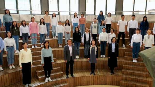 北外千余师生校友唱响《歌唱祖国》