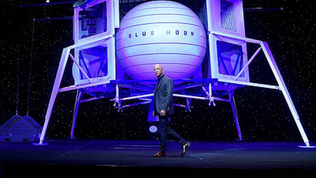 贝索斯发布蓝月飞船 ,2024年登月