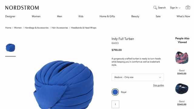 Gucci卖宗教头巾遭抗议,一个五千