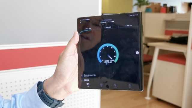 5G多快?华为手机测试速率超1Gbps