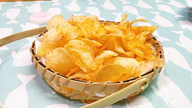 自制薯片,香辣酥脆能上癮!
