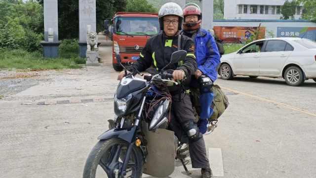 不老骑士!2名老人结伴骑摩托游6省