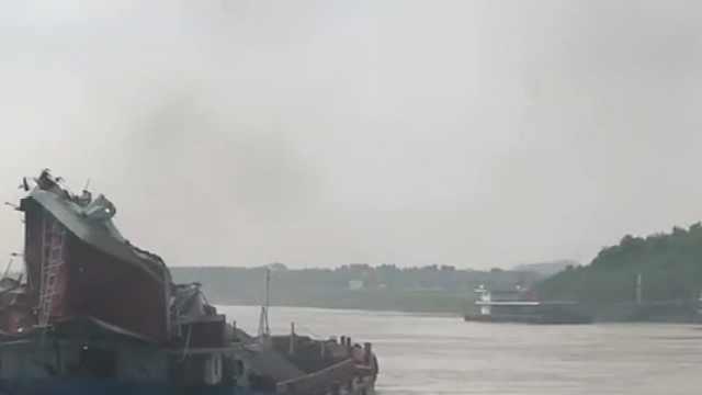 一船舶意外触碰西江桥板,4人受伤