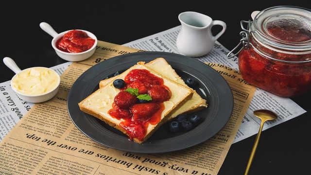自制整颗草莓果酱,酸甜可口零添加