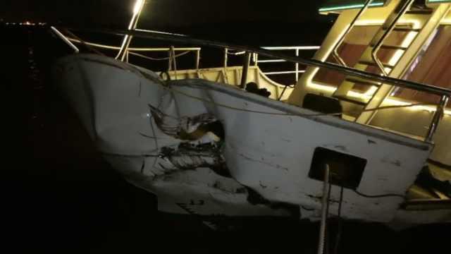 松花江客轮与运沙船相撞,多人受伤
