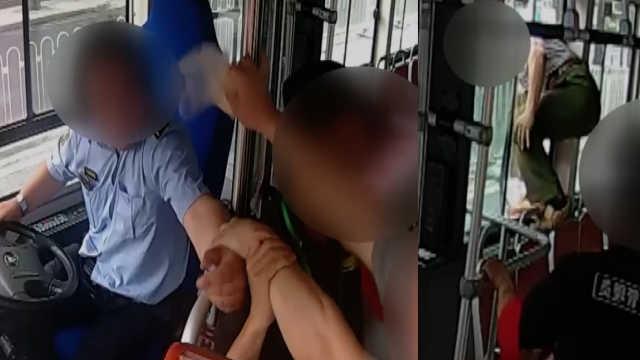 刑拘!男子拉拽司机手臂后跳窗辱骂