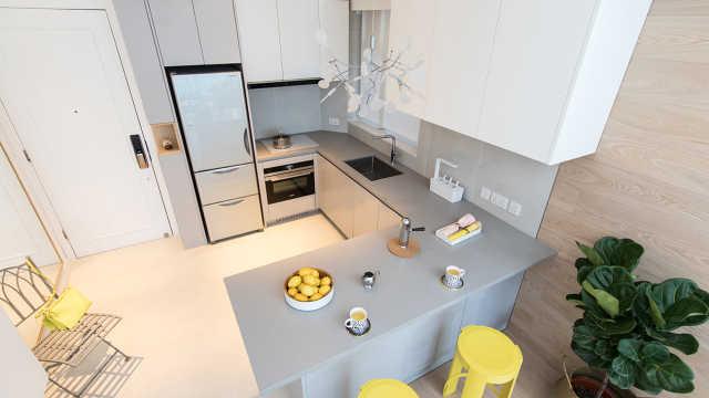 厨房设计不满意,加上一个岛台!
