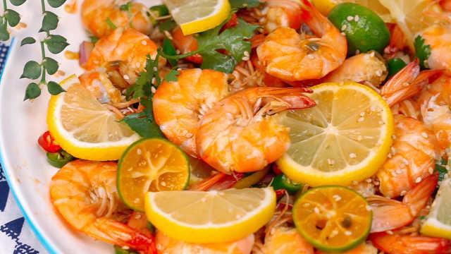 超酸爽的夏日酸辣柠檬虾,简单易学