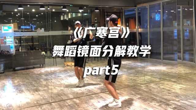 《广寒宫》舞蹈镜面分解教学part5