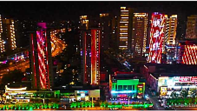 天津天塔沿线夜景美不胜收
