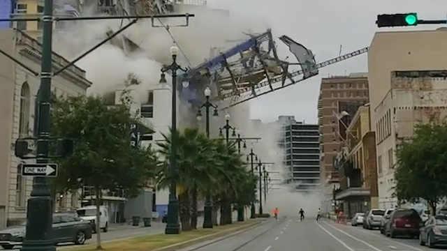新奥尔良在建酒店大楼突然崩塌