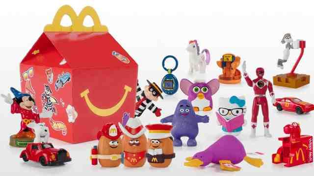 开心乐园餐40年!麦当劳推怀旧玩具