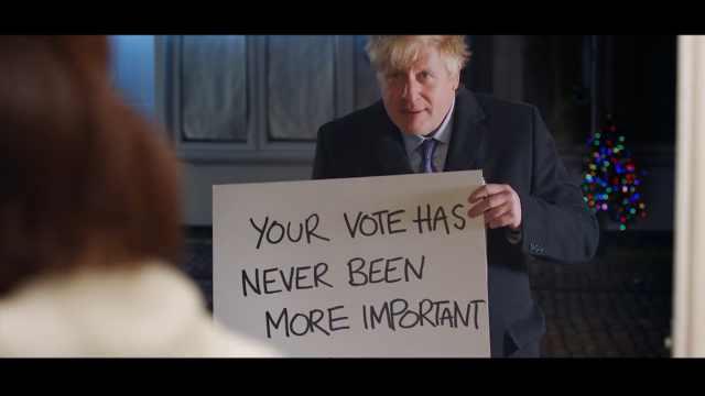 英首相模仿真爱至上告白片段拉选票