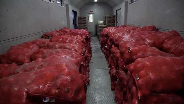 给力!新疆援武汉百吨洋葱20万口罩