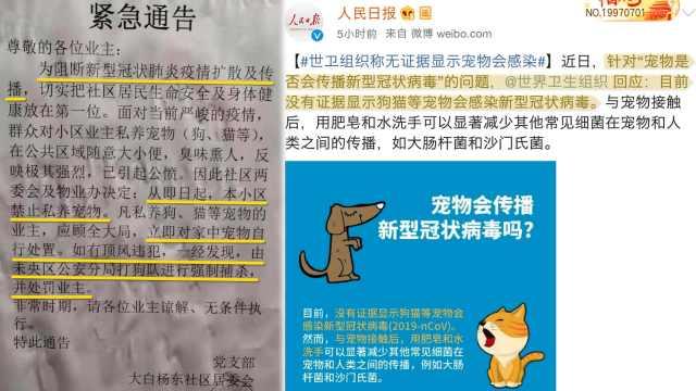 物业抗疫禁止居民养宠物,公安:改正