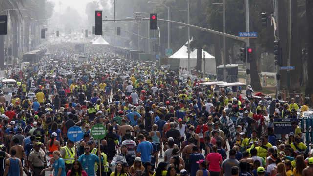 洛杉矶马拉松正常举行,27000人参赛