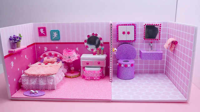 DIY迷你粉色格调的家庭式酒店