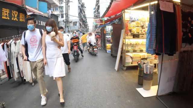 武汉江汉路夜市回来了!商户:出摊至少能保证生活