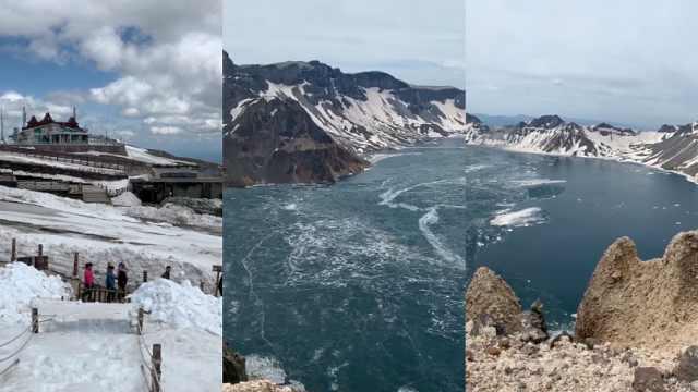 长白山景区恢复全面开放,27日前免门票:开冰非常美