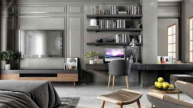 你家电视柜还是像过去一样吗?有钱人都这么装,实用还美观!