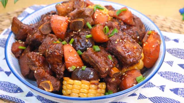 排骨最好吃的做法,酱香浓郁,三碗米饭不够吃!