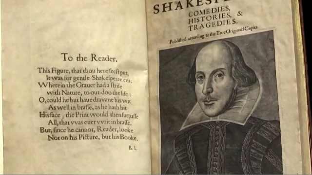 """莎士比亚1623年首部合集""""第一对开本""""拍卖,近千万美元成交"""