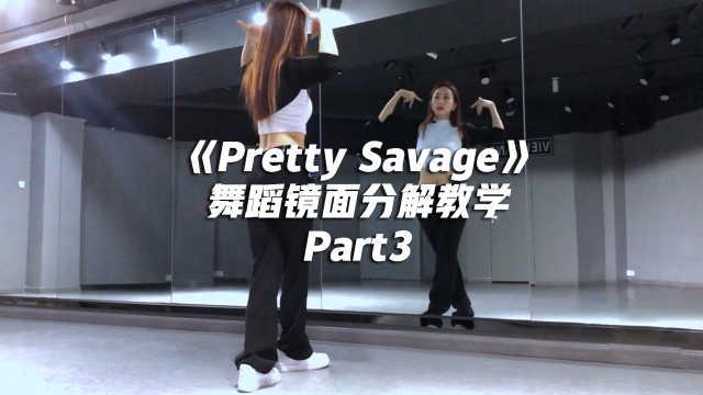 BLACKPINK《Pretty Savage》舞蹈镜面分解教学Part3