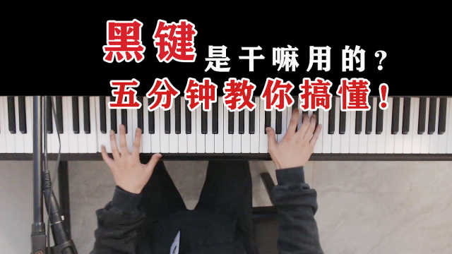 用《夜曲》举例!钢琴上面的黑键到底怎么弹?五分钟教你搞懂