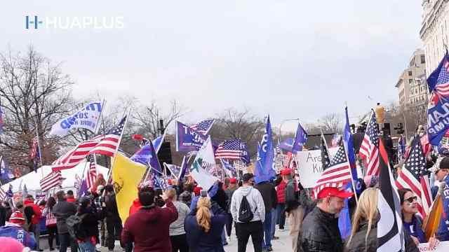 美国首都双12上演万人大游行