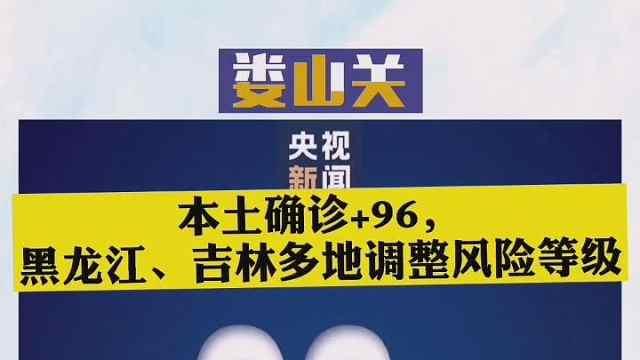 本土确诊+96,黑龙江、吉林多地调整风险等级!