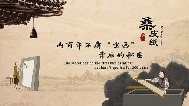 """桑皮纸:两百年不腐""""宝画""""背后的秘密"""