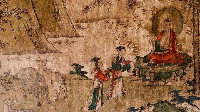 山西一废弃窑洞藏明代精美壁画,曾是寺庙遗址
