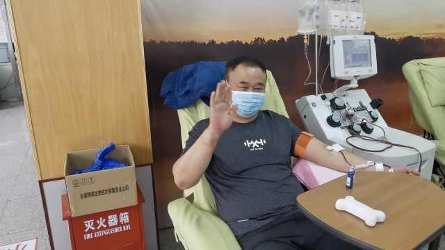 59岁男子18年献血165次10万多毫升,有80献血证获4个献血金奖
