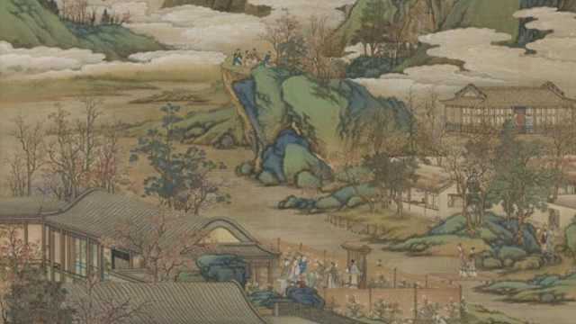 古画里的秋天:饮酒、赏菊、登高