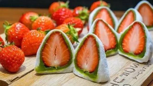 夏天的味道:甜品网红草莓大福