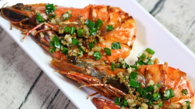 家常海鲜菜,蒜香老虎虾详细做法