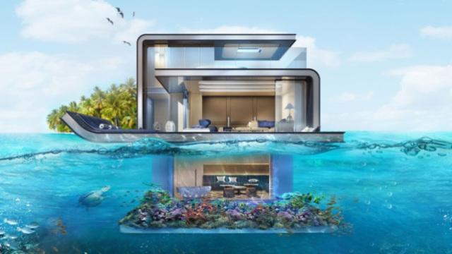 迪拜把别墅搬到海上,不怕沉吗?